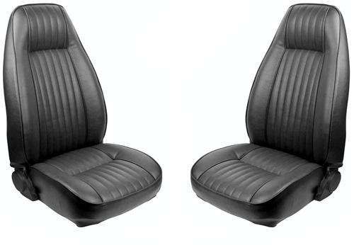 TMI Mustang Seat Upholstery Black Vinyl (81-83) Hatchback High Back