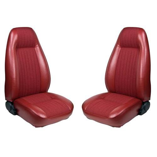 TMI Mustang Seat Upholstery Medium Red Vinyl (81-83) Hatchback High Back