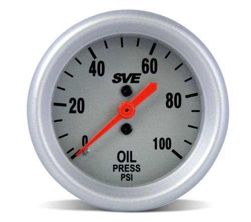 1979-93 Mustang Dual Pillar Gauge Pod W. SVE Oil Pressure And Water Temp Gauge  Pod-82001 Sve-Ut89011 Sve-Ut89022