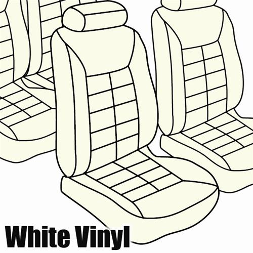 TMI Mustang Seat Upholstery White Vinyl (82-83) Coupe Low Back