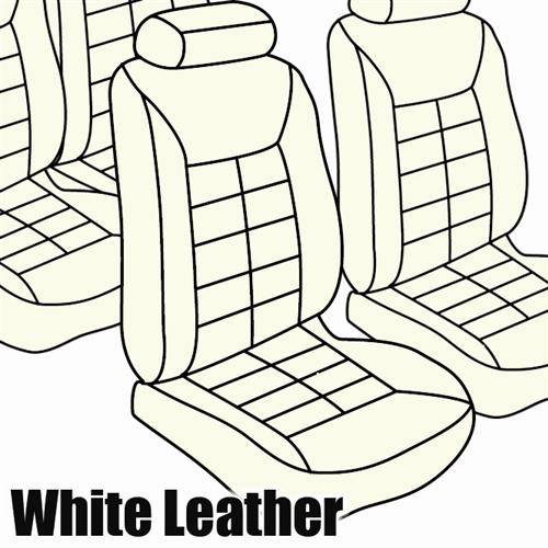 TMI Mustang Seat Upholstery White Leather (82-83) Hatchback Low