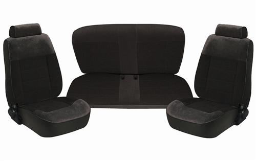Mustang Seat Upholstery Black Cloth (87-93) Convertible