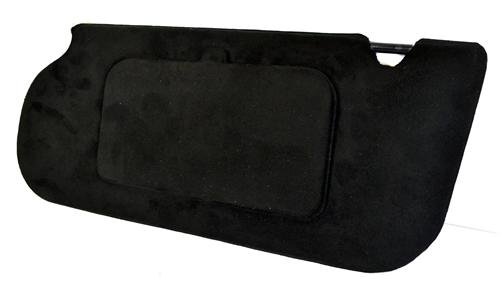Mustang Sunvisors w/Mirrors  Black Suede (85-93) Hatchback Coupe 21-73006-99