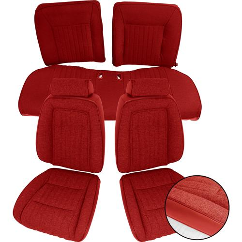 Acme Mustang Sport Seat Upholstery Scarlet Red Cloth (90-91) Hatchback