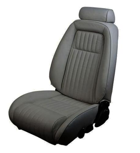 TMI Mustang Sport Seat Upholstery Smoke Gray Leather (87-89) Convertible