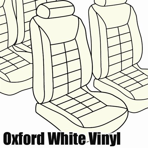 TMI Mustang Sport Seat Upholstery Oxford White Vinyl  (87-89) Convertible 43-74629-997