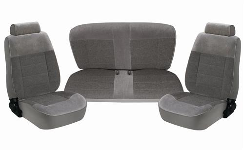 TMI Mustang Seat Upholstery Smoke Gray Cloth (87-89) LX Convertible 43-74227-61-61-61
