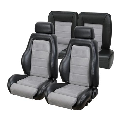 Mustang 03-04 Cobra Style Upholstery with Seat Foam Black Vinyl/ Graphite Insert (87-89) Hatchback