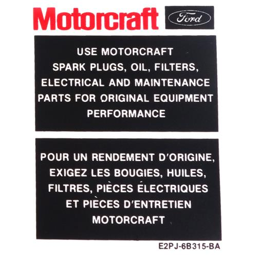 Mustang Engine Bay Decal Kit (87-89) 5.0