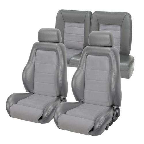 TMI Mustang 03-04 Cobra Style Upholstery with Seat Foam Smoke Gray/ Graphite Insert (87-89) hatchback 43-75987K-953-7042