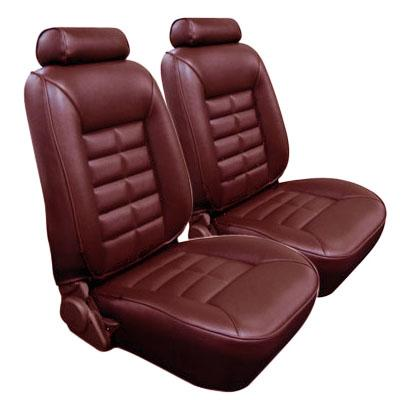 TMI Mustang Standard Seat Upholstery Scarlet Red Vinyl (87-92) LX Coupe 43-73221-971