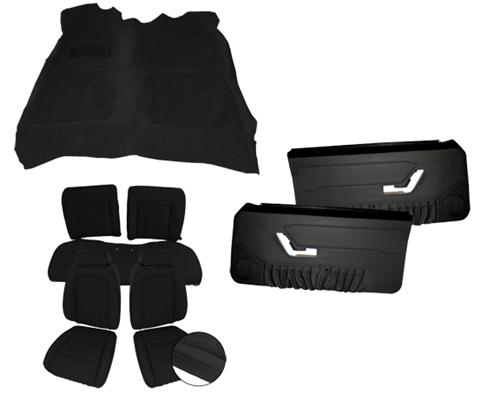 Acme Mustang Interior Kit Black (90-91) Convertible