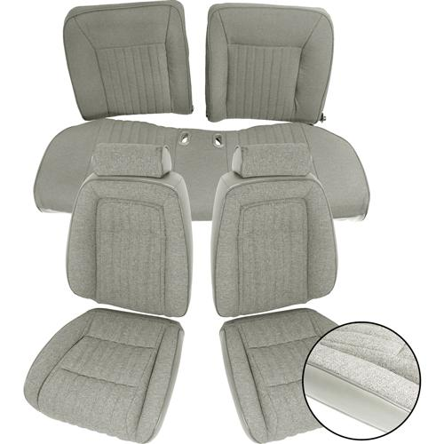 TMI Mustang Sport Seat Upholstery Titanium Gray Cloth (1992) Coupe
