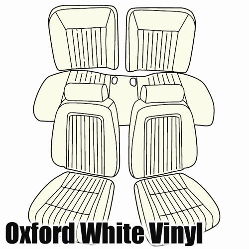 TMI Mustang Sport Seat Upholstery Oxford White Vinyl (90-91) Convertible 43-74630-965