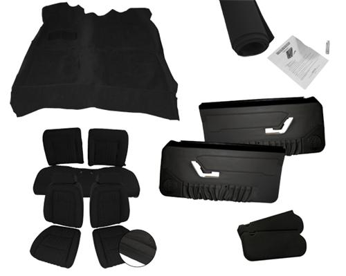 Mustang Interior Kit w/ Sport Seats Black (90-91) Coupe