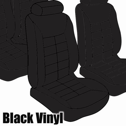 TMI Mustang Seat Upholstery Black Vinyl (90-92) LX Convertible 43-74221-958