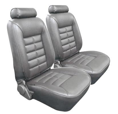 TMI Mustang Seat Upholstery Titanium Gray (90-92) LX Hatchback 43-75221-972
