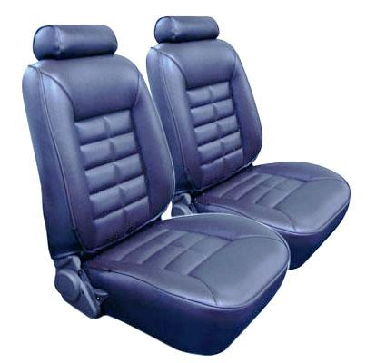 TMI Mustang Seat Upholstery Crystal Blue Vinyl (90-92) LX Hatchback 43-75221-968