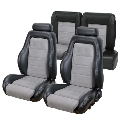TMI Mustang 03-04 Cobra Seat Upholstery w/ Seat Foam Black/Graphite (92-93) Coupe 43-73982K-958-7042
