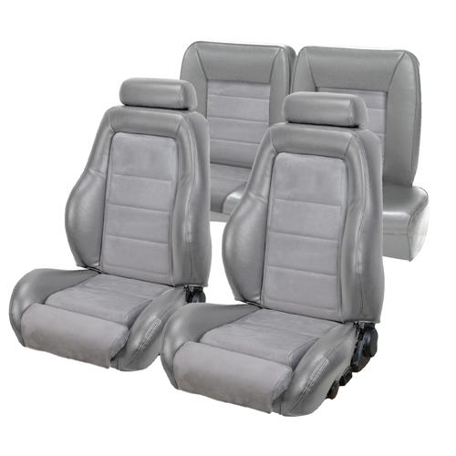 TMI Mustang 03-04 Cobra Seat Upholstery w/ Seat Foam TItanium Gray/Graphite  (90-91) Hatchback 43-75980K-972-7042