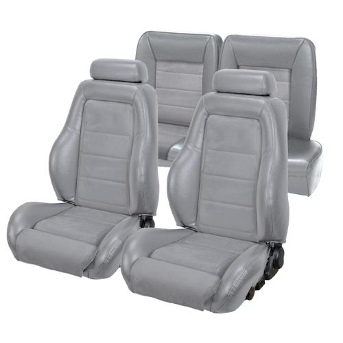 TMI Mustang 03-04 Cobra Seat Upholstery w/ Seat Foam Opal Gray/Graphite (1993) Coupe 43-73982K-6687-7042