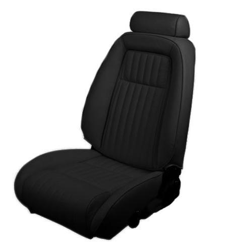 1992-93 Mustang Coupe Black Leather Seat Upholstery, for sport seat without knee bolster  use lrs-9293cvaa for picture