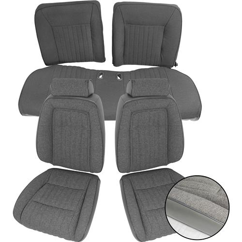 Mustang Sport Seat Upholstery Opal Gray Cloth (1993) Convertible