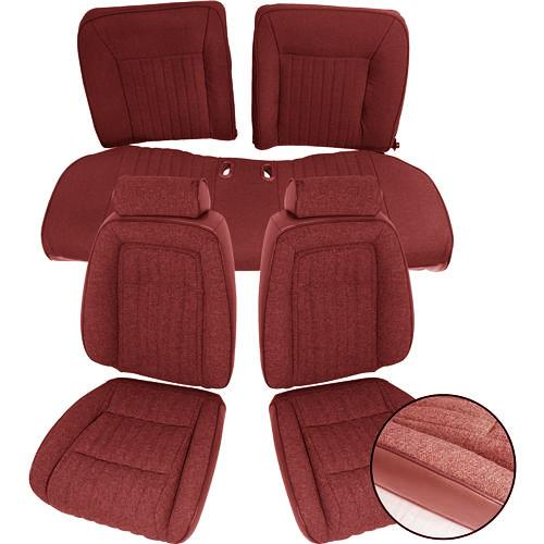 TMI Sport Seat Upholstery Ruby Red Cloth. (1993)
