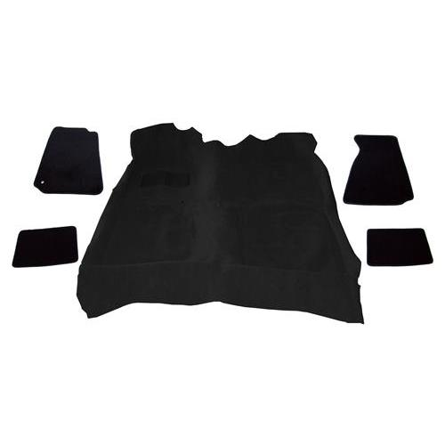 Mustang Carpet And Floor Mat Kit Black (94-04)