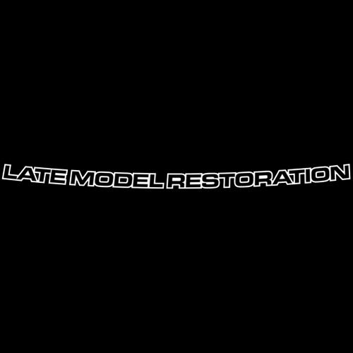 Mustang Latemodelrestoration.Com Windshield Banner  White (94-04)