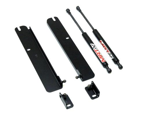 1994-04 Mustang Mrt Hood Struts, No Drill, Carbon Fiber Finish