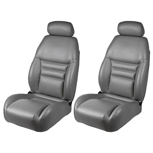 TMI Mustang Front Sport Seat Upholstery  - Opal Gray Vinyl (94-95) 43-76304-6687