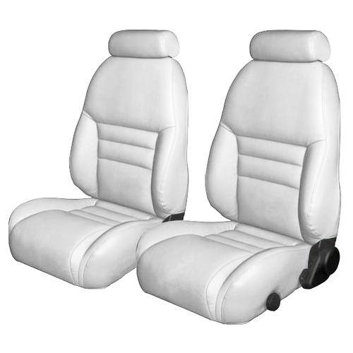 TMI Mustang Sport Seat Upholstery White Leather (94-96)