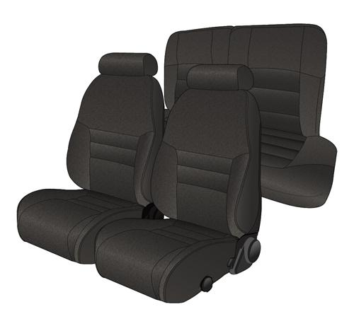 TMI Mustang Sport Seat Upholstery Black Cloth (94-96) Coupe