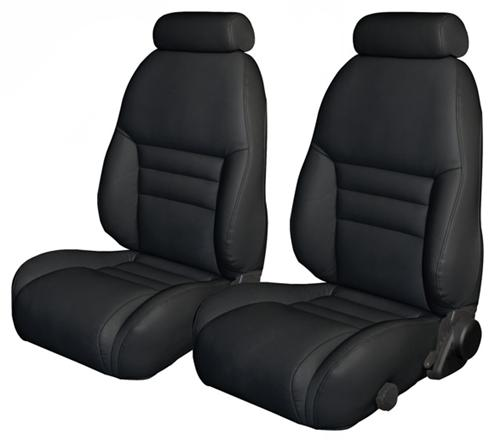 TMI Mustang Sport Seat Upholstery Black Leather (94-96) Coupe