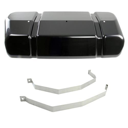 Glenns Mustang Fuel Tank Cover & Stainless Strap Kit (98-04)