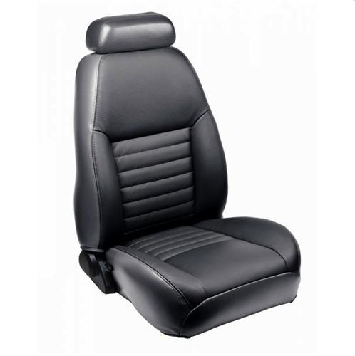 TMI Mustang Front Sport Seat Upholstery Dark Charcoal Leather (99-04)
