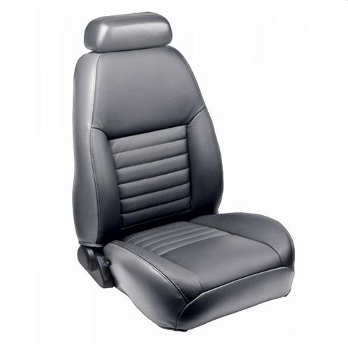TMI Mustang Sport Seat Upholstery Medium Graphite Leather (99-04) Coupe 43-76620-L620P-PONY