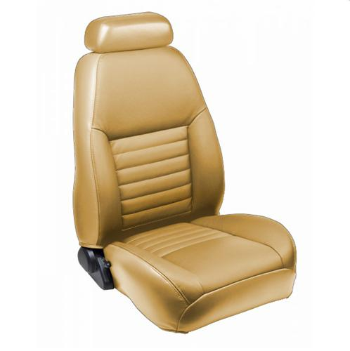 TMI Mustang Sport Seat Upholstery Parchment Tan Vinyl (99-04) Coupe 43-76320-7221P-PONY