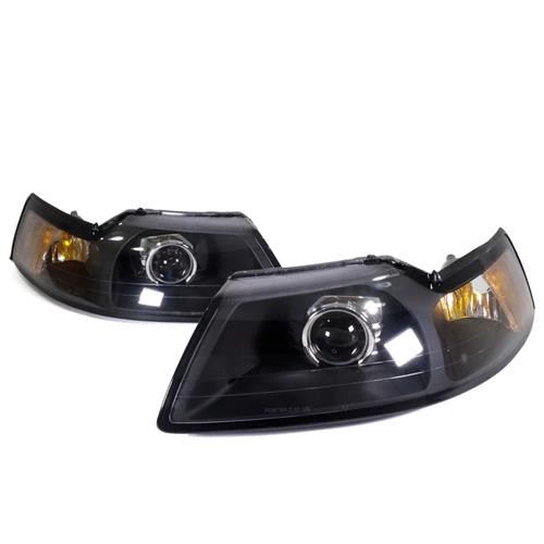 mustang projector headlight kit 99 04 lmr com 1999 04 mustang projector headlight kit