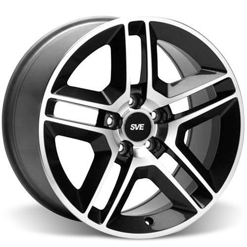 Mustang GT500 Wheel Kit - 19x8.5  - Black w/ Machined Face (05-16)