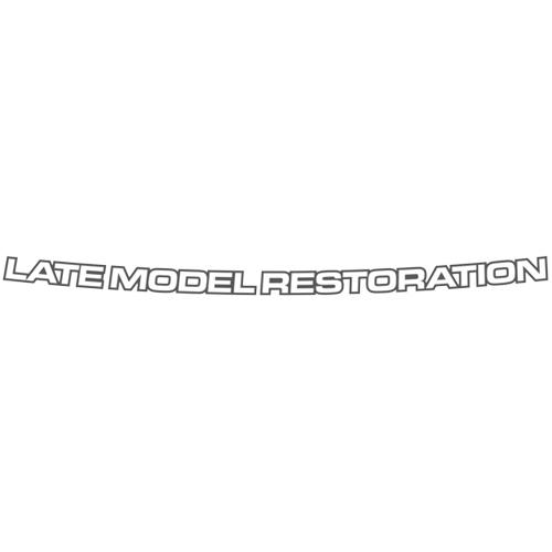 Mustang Latemodelrestoration.Com Windshield Banner  Silver (05-14)