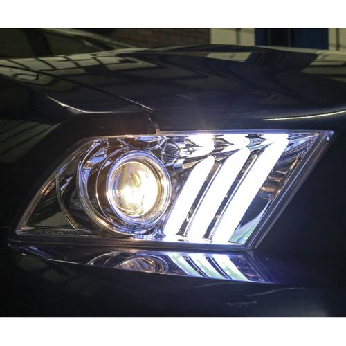 Mustang S550 Style Headlight Kit  - Chrome (10-12)