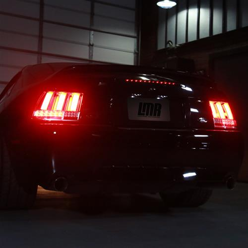 Mustang Sequential S550 Style Tail Lights  - Chrome (99-04)