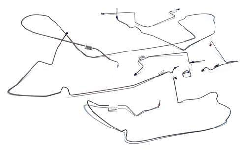 Picture of 1999-04 Mustang Stainless Steel Disc Brake Line Kit Includes All Hard Lines On The Car. Fits V6 & GT Applications