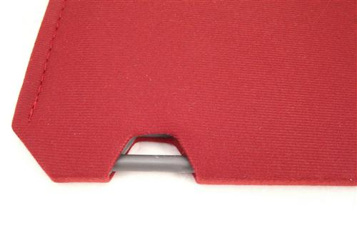 TMI Mustang Sun Visors Canyon Red Cloth (85-86) 21-73205-1805