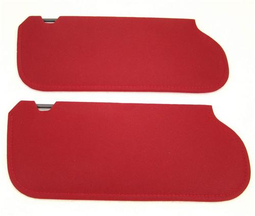 TMI Mustang Sun Visors Canyon Red Cloth  (1984) 21-73019-1805