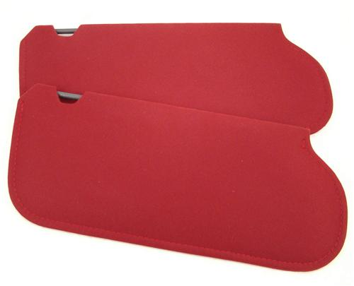 Mustang Sun Visors Canyon Red Cloth  (1984) 21-73019-1805