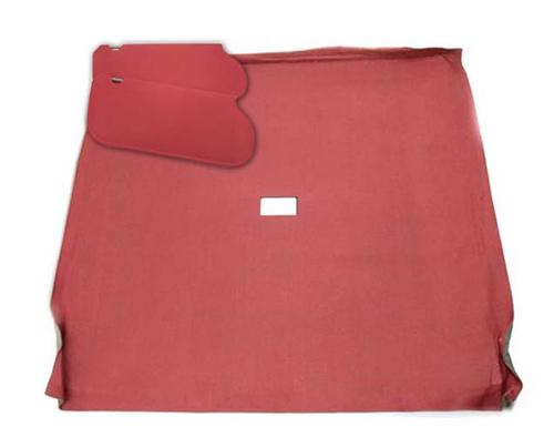 Mustang Sunvisor And Headliner Kit Canyon Red Cloth (85-86) Coupe