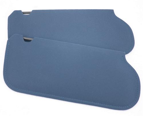 TMI Mustang Sun Visors Crystal Blue Cloth (90-92) 21-73205-1908